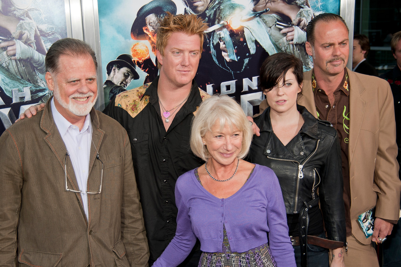 HOLLYWOOD - JUNE 17: Director Taylor Hackford, wife actress Helen Mirren and family arrive at the 'Jonah Hex' Los Angeles Premiere held at ArcLight Cinemas Cinerama Dome on June 17, 2010 in Hollywood, California. (Photo by Tom Sorensen/Moovieboy Pictures)