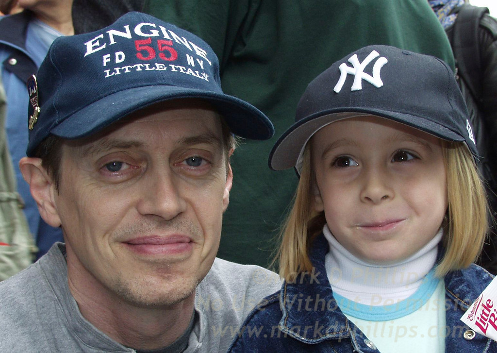 Eliza Phillips and Steve Buscemi at the closing of Engine 204 on Friday, May 30