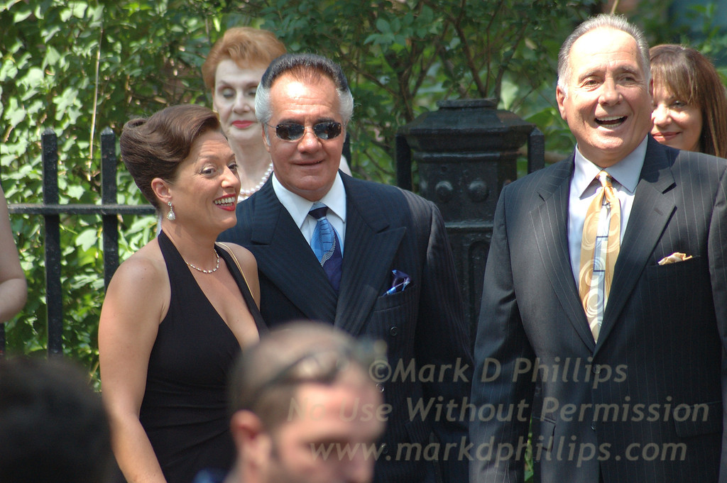 Sharon Angela and Tony Sirico of the Sopranos outside of Christ Church in Brooklyn