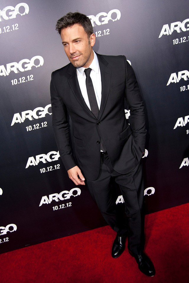 "BEVERLY HILLS, CA - OCTOBER 04: Actor/director/producer Ben Affleck arrives at the premiere of Warner Bros. Pictures' ""Argo"" at AMPAS Samuel Goldwyn Theater onThursday, October 4, 2012 in Beverly Hills, California. (Photo by Tom Sorensen/Moovieboy Pictures)"