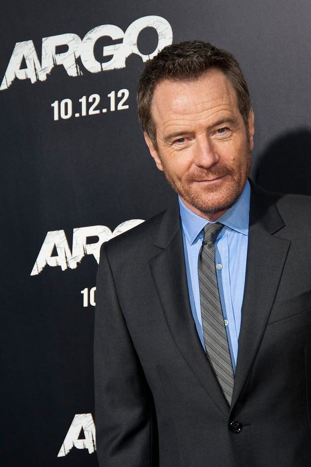 """BEVERLY HILLS, CA - OCTOBER 04: Actor Bryan Cranston arrives at the premiere of Warner Bros. Pictures' """"Argo"""" at AMPAS Samuel Goldwyn Theater onThursday, October 4, 2012 in Beverly Hills, California. (Photo by Tom Sorensen/Moovieboy Pictures)"""