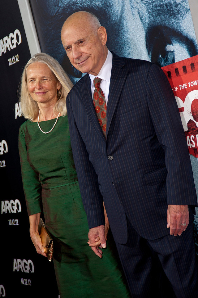 """BEVERLY HILLS, CA - OCTOBER 04: Suzanne Newlander Arkin (L) and actor Alan Arkin arrive at the premiere of Warner Bros. Pictures' """"Argo"""" at AMPAS Samuel Goldwyn Theater onThursday, October 4, 2012 in Beverly Hills, California. (Photo by Tom Sorensen/Moovieboy Pictures)"""
