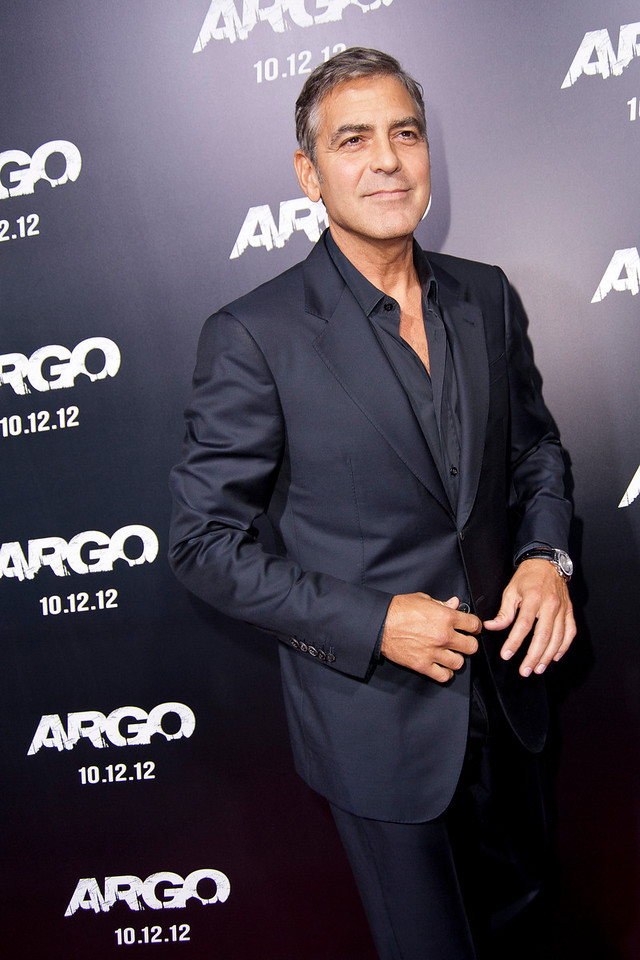 "BEVERLY HILLS, CA - OCTOBER 04: Actor George Clooney arrives at the premiere of Warner Bros. Pictures' ""Argo"" at AMPAS Samuel Goldwyn Theater onThursday, October 4, 2012 in Beverly Hills, California. (Photo by Tom Sorensen/Moovieboy Pictures)"