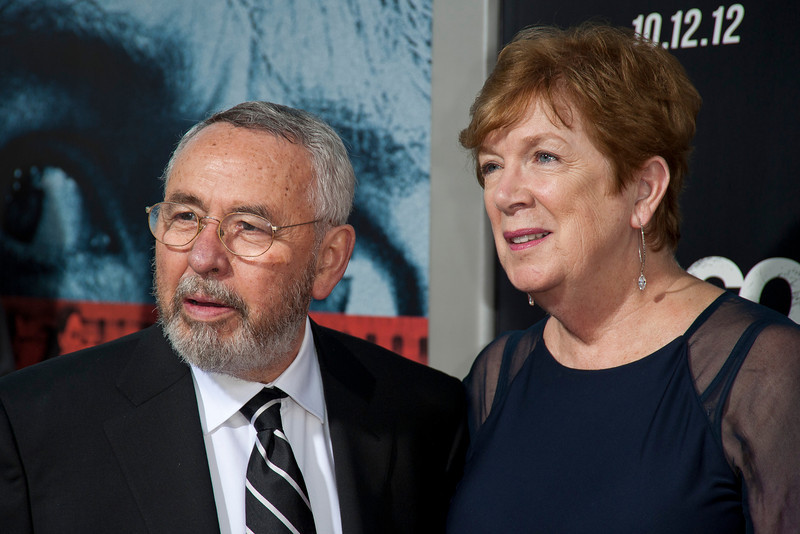 """BEVERLY HILLS, CA - OCTOBER 04: Author Tony Mendez and wife arrive at the premiere of Warner Bros. Pictures' """"Argo"""" at AMPAS Samuel Goldwyn Theater onThursday, October 4, 2012 in Beverly Hills, California. (Photo by Tom Sorensen/Moovieboy Pictures)"""