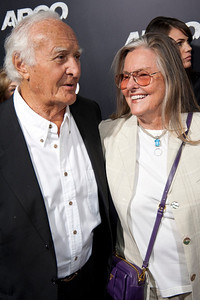 """BEVERLY HILLS, CA - OCTOBER 04: Actor Robert Loggia and guest arrive at the premiere of Warner Bros. Pictures' """"Argo"""" at AMPAS Samuel Goldwyn Theater onThursday, October 4, 2012 in Beverly Hills, California. (Photo by Tom Sorensen/Moovieboy Pictures)"""