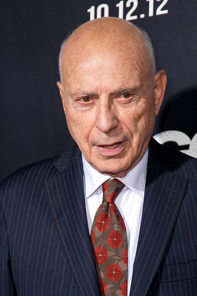 """BEVERLY HILLS, CA - OCTOBER 04: Actor Alan Arkin arrives at the premiere of Warner Bros. Pictures' """"Argo"""" at AMPAS Samuel Goldwyn Theater onThursday, October 4, 2012 in Beverly Hills, California. (Photo by Tom Sorensen/Moovieboy Pictures)"""