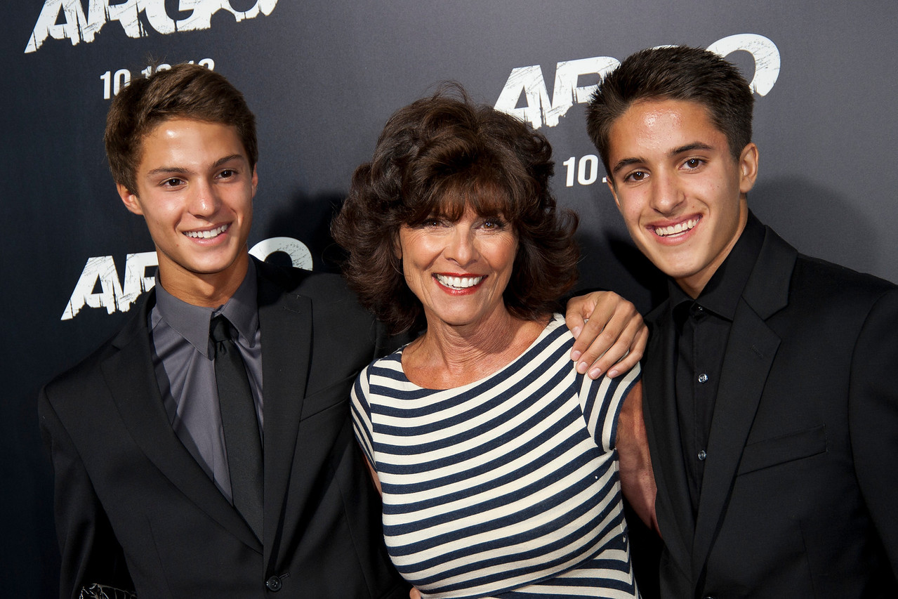 """BEVERLY HILLS, CA - OCTOBER 04: Actress Adrienne Barbeau and sons arrive at the premiere of Warner Bros. Pictures' """"Argo"""" at AMPAS Samuel Goldwyn Theater onThursday, October 4, 2012 in Beverly Hills, California. (Photo by Tom Sorensen/Moovieboy Pictures)"""