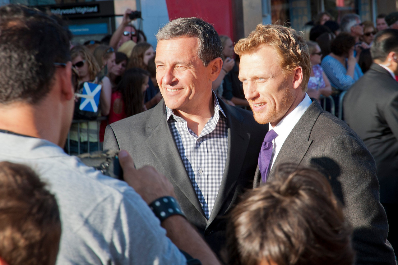 HOLLYWOOD, CA - JUNE 18: The Walt Disney Company Chairman & CEO Robert Iger and actor Kevin McKidd arrive at Disney Pixar's 'Brave' World Premiere at Dolby Theatre on June 18, 2012 in Hollywood, California. (Photo by Tom Sorensen/Moovieboy Pictures)