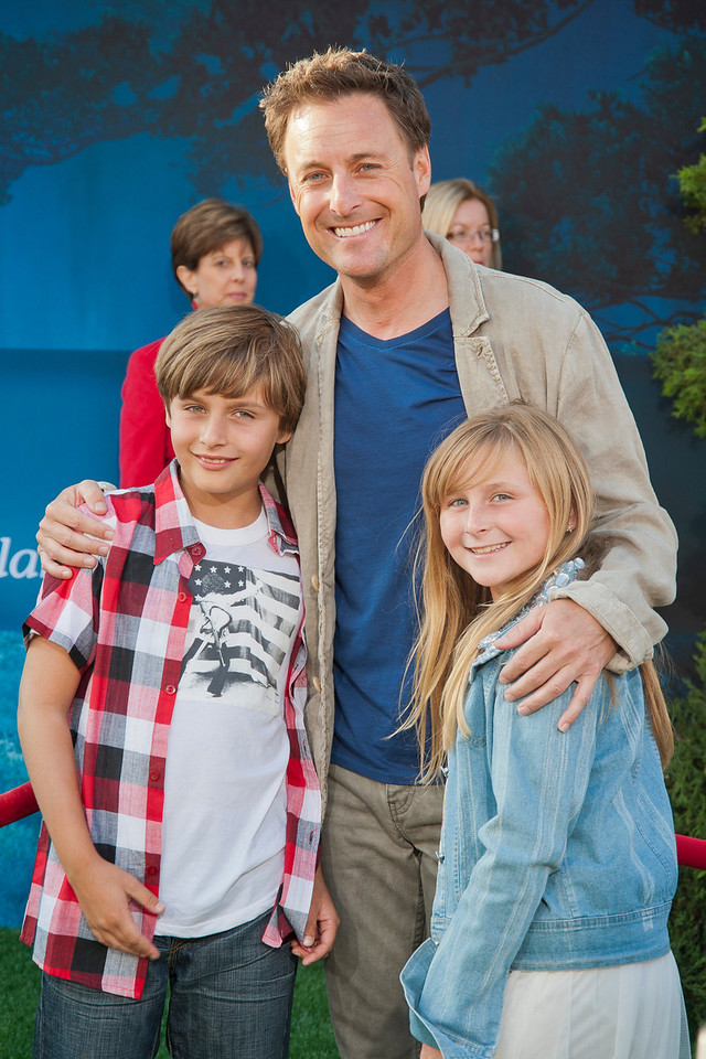 HOLLYWOOD, CA - JUNE 18: TV personality Chris Harrison (C) and family arrive at Disney Pixar's 'Brave' World Premiere at Dolby Theatre on June 18, 2012 in Hollywood, California. (Photo by Tom Sorensen/Moovieboy Pictures)