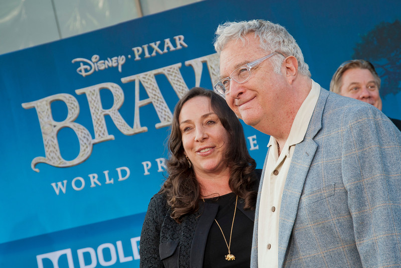 HOLLYWOOD, CA - JUNE 18: Musician Randy Newman (R) and Gretchen Preece arrive at Disney Pixar's 'Brave' World Premiere at Dolby Theatre on June 18, 2012 in Hollywood, California. (Photo by Tom Sorensen/Moovieboy Pictures)