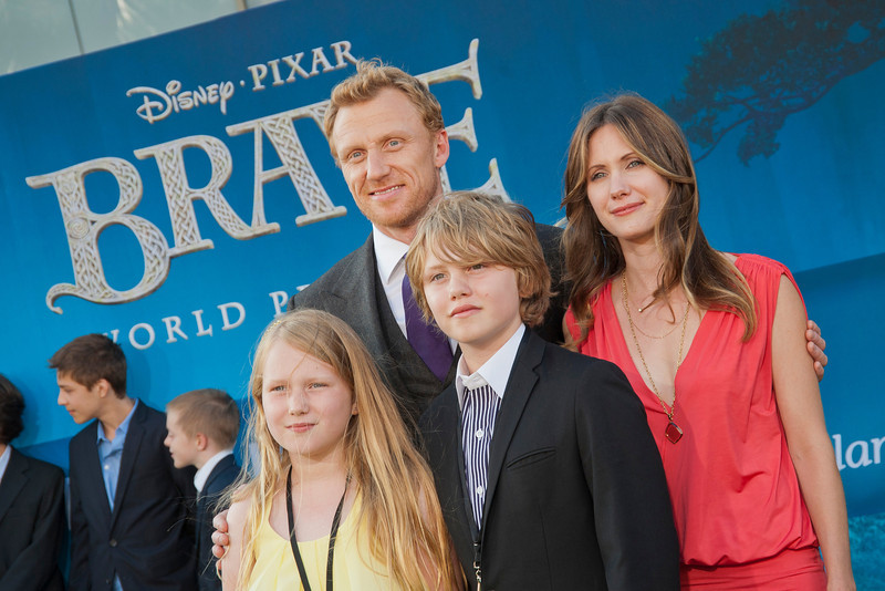 HOLLYWOOD, CA - JUNE 18: Actor Kevin McKidd, wife Jane Parker and children arrive at Disney Pixar's 'Brave' World Premiere at Dolby Theatre on June 18, 2012 in Hollywood, California. (Photo by Tom Sorensen/Moovieboy Pictures)