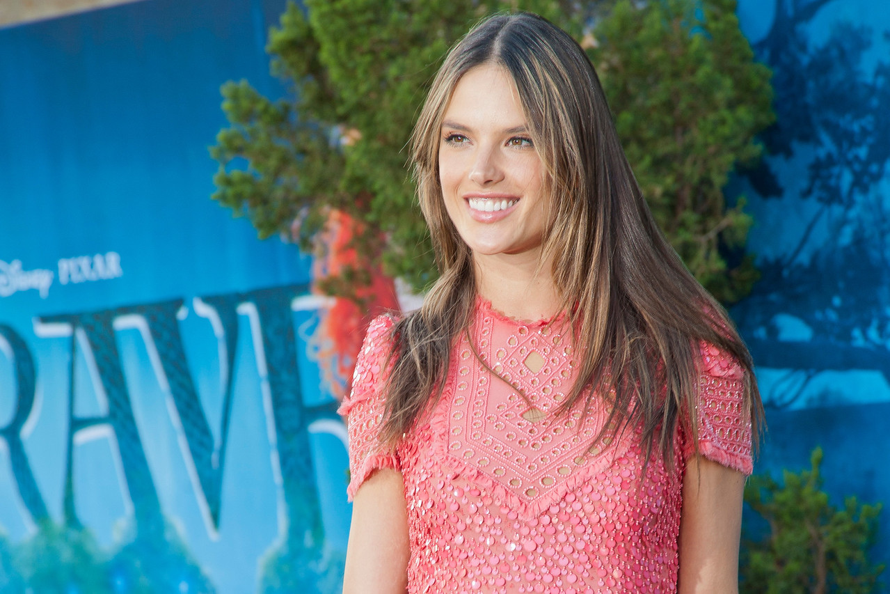 HOLLYWOOD, CA - JUNE 18: Model Alessandra Ambrosio and daughter Anja Mazur arrive at Disney Pixar's 'Brave' World Premiere at Dolby Theatre on June 18, 2012 in Hollywood, California. (Photo by Tom Sorensen/Moovieboy Pictures)