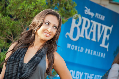 HOLLYWOOD, CA - JUNE 18: Actress Francia Raisa arrives at Disney Pixar's 'Brave' World Premiere at Dolby Theatre on June 18, 2012 in Hollywood, California. (Photo by Tom Sorensen/Moovieboy Pictures)