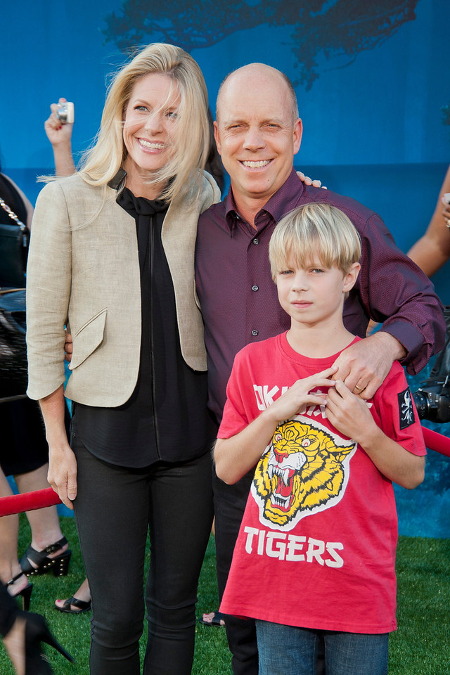 HOLLYWOOD, CA - JUNE 18: Scott Hamilton (R) and family arrive at Disney Pixar's 'Brave' World Premiere at Dolby Theatre on June 18, 2012 in Hollywood, California. (Photo by Tom Sorensen/Moovieboy Pictures)