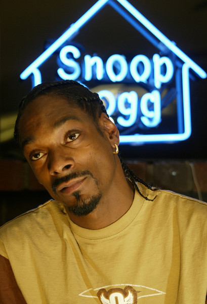 """Actor, and Rapper, """"Snoop Dogg"""" at a friends home in Diamond Bar."""