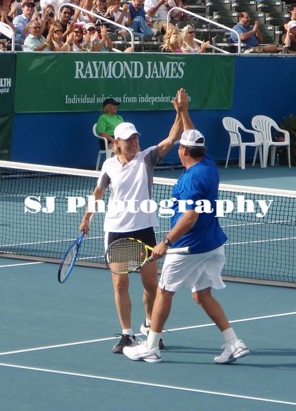 Martina Navratilova and Jon Lovitz<br /> Chris Evert /Raymond James Pro-Celebrity Tennis Classic<br /> Delray Beach, Florida USA - 08.11.09