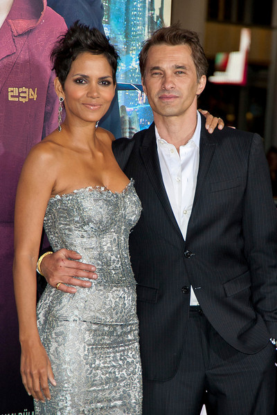 HOLLYWOOD, CA - OCTOBER 24: Actress Halle Berry (R) and Olivier Martinez arrive at the 'Cloud Atlas' - Los Angeles Premiere at Grauman's Chinese Theatre on Wednesday October 24, 2012 in Hollywood, California. (Photo by Tom Sorensen/Moovieboy Pictures)