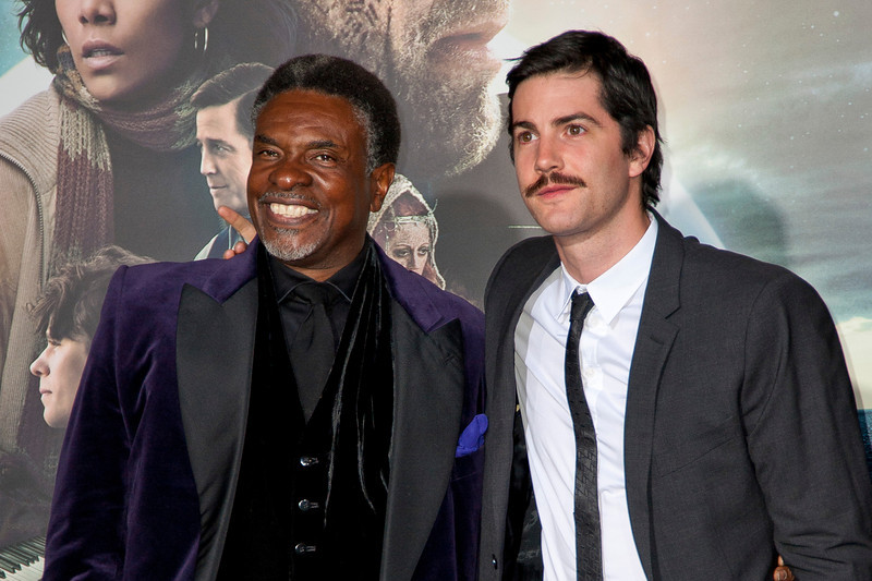 HOLLYWOOD, CA - OCTOBER 24: Actors Keith David and Jim Sturgess arrive at the 'Cloud Atlas' - Los Angeles Premiere at Grauman's Chinese Theatre on Wednesday October 24, 2012 in Hollywood, California. (Photo by Tom Sorensen/Moovieboy Pictures)