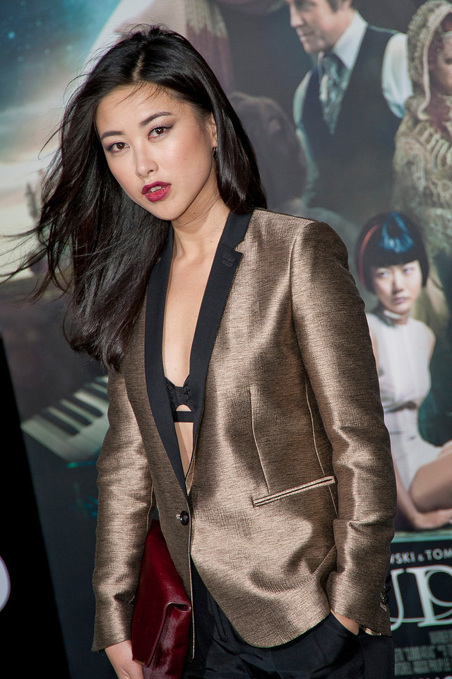HOLLYWOOD, CA - OCTOBER 24: Actress Zhu Zhu arrives at the 'Cloud Atlas' - Los Angeles Premiere at Grauman's Chinese Theatre on Wednesday October 24, 2012 in Hollywood, California. (Photo by Tom Sorensen/Moovieboy Pictures)