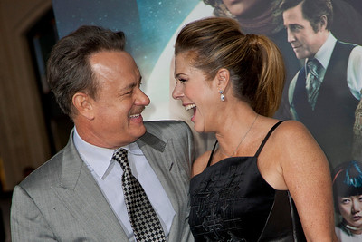 HOLLYWOOD, CA - OCTOBER 24: Actor Tom Hanks and wife Rita Wilson arrive at the 'Cloud Atlas' - Los Angeles Premiere at Grauman's Chinese Theatre on Wednesday October 24, 2012 in Hollywood, California. (Photo by Tom Sorensen/Moovieboy Pictures)