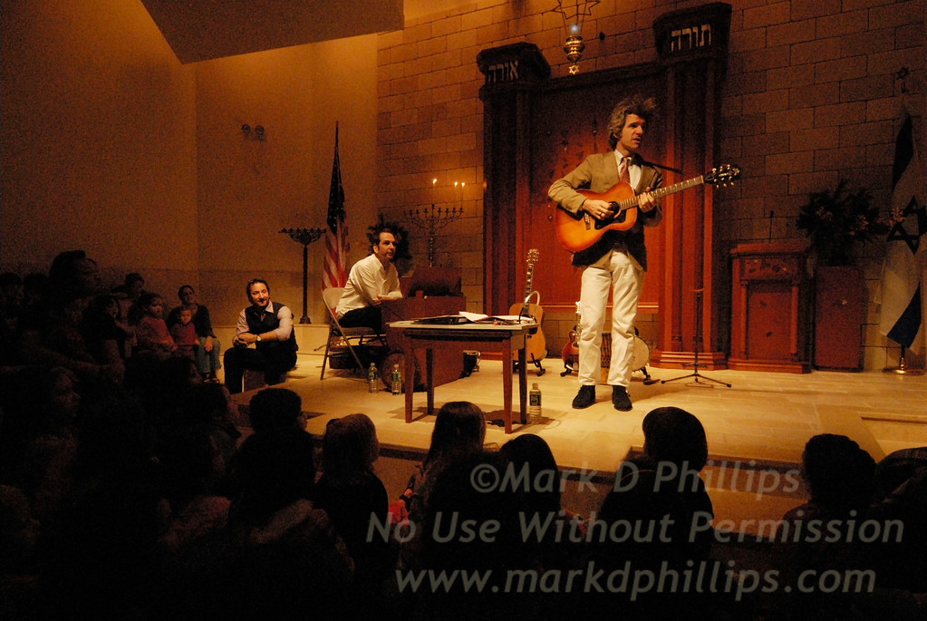 Dan Zanes performs a holiday concert at Brooklyn Heights Synagogue in 2006.  Dan Zanes and Friends kid band play in Brooklyn