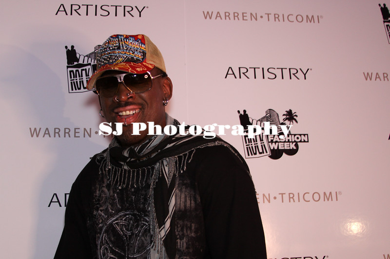 Dennis Rodman<br /> Retired NBA Player<br /> Rock Fashion Week at the Fountainebeau, Miami Beach<br /> After Hours Red Carpet Event - Outside of Liv night club<br /> Miami Beach, Florida USA - 27.03.09
