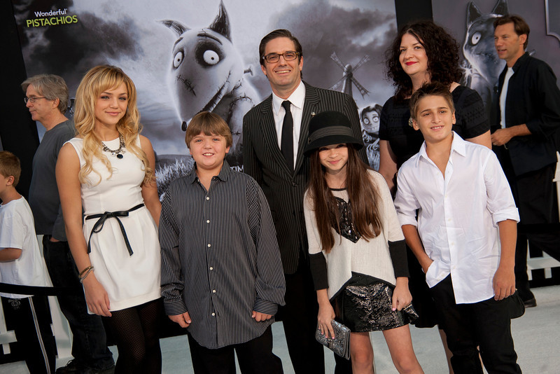 HOLLYWOOD, CA: Actors Cole Jensen, Time Lasasse, Oana Gregory, Aaron Landon, Lndry Bender and guest arrive at the Premiere Of Disney's 'Frankenweenie' at the El Capitan Theatre on Monday, September 24, 2012 in Hollywood, California. (Photo by Tom Sorensen/Moovieboy Pictures)