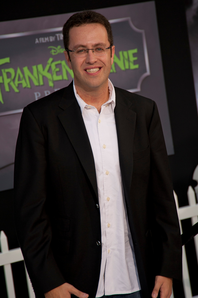 HOLLYWOOD, CA: TV Personality Jared Fogle arrives at the Premiere Of Disney's 'Frankenweenie' at the El Capitan Theatre on Monday, September 24, 2012 in Hollywood, California. (Photo by Tom Sorensen/Moovieboy Pictures)