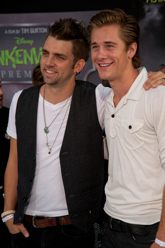 HOLLYWOOD, CA: Actors Adam Chambers and Luke Benward arrive at the Premiere Of Disney's 'Frankenweenie' at the El Capitan Theatre on Monday, September 24, 2012 in Hollywood, California. (Photo by Tom Sorensen/Moovieboy Pictures)