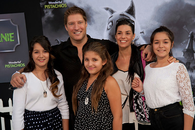 HOLLYWOOD, CA: Actor Sean Kanan and family arrive at the Premiere Of Disney's 'Frankenweenie' at the El Capitan Theatre on Monday, September 24, 2012 in Hollywood, California. (Photo by Tom Sorensen/Moovieboy Pictures)