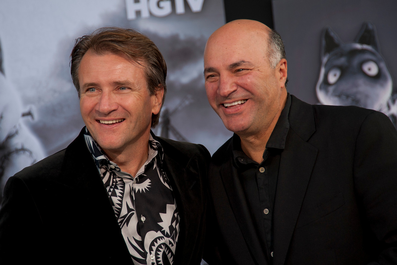 HOLLYWOOD, CA: TV personalites Robert Herjavec and Kevin O'Leary arrive at the Premiere Of Disney's 'Frankenweenie' at the El Capitan Theatre on Monday, September 24, 2012 in Hollywood, California. (Photo by Tom Sorensen/Moovieboy Pictures)