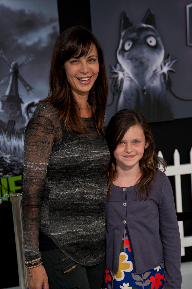 HOLLYWOOD, CA: Actress Catherine Bell and her daughter arrive at the Premiere Of Disney's 'Frankenweenie' at the El Capitan Theatre on Monday, September 24, 2012 in Hollywood, California. (Photo by Tom Sorensen/Moovieboy Pictures)