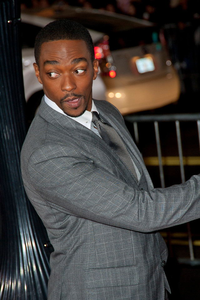 HOLLYWOOD, CA - JANUARY 07: Actor Anthony Mackie arrives at Warner Bros. Pictures' 'Gangster Squad' premiere at Grauman's Chinese Theatre on Monday, January 7, 2013 in Hollywood, California. (Photo by Tom Sorensen/Moovieboy Pictures)