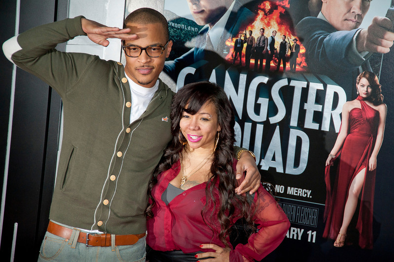 HOLLYWOOD, CA - JANUARY 07: Rapper T.I. and Tiny arrive at Warner Bros. Pictures' 'Gangster Squad' premiere at Grauman's Chinese Theatre on Monday, January 7, 2013 in Hollywood, California. (Photo by Tom Sorensen/Moovieboy Pictures)