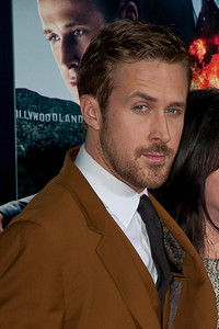 HOLLYWOOD, CA - JANUARY 07: Actor Ryan Gosling and Donna Gosling arrive at Warner Bros. Pictures' 'Gangster Squad' premiere at Grauman's Chinese Theatre on Monday, January 7, 2013 in Hollywood, California. (Photo by Tom Sorensen/Moovieboy Pictures)