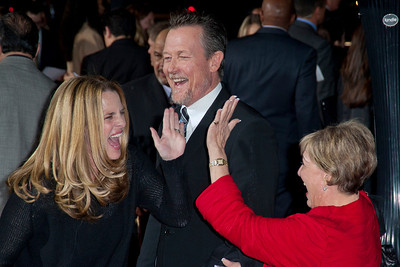 HOLLYWOOD, CA - JANUARY 07: Actors Barbara Patrick and Robert Patrick arrive at Warner Bros. Pictures' 'Gangster Squad' premiere at Grauman's Chinese Theatre on Monday, January 7, 2013 in Hollywood, California. (Photo by Tom Sorensen/Moovieboy Pictures)