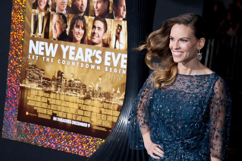 HOLLYWOOD, CA: Actress Hilary Swank arrives at the Premiere of Warner Bros. Pictures' 'New Year's Eve' at Grauman's Chinese Theatre. Photo taken on Monday, December 5, 2011 by Tom Sorensen/Moovieboy Pictures.