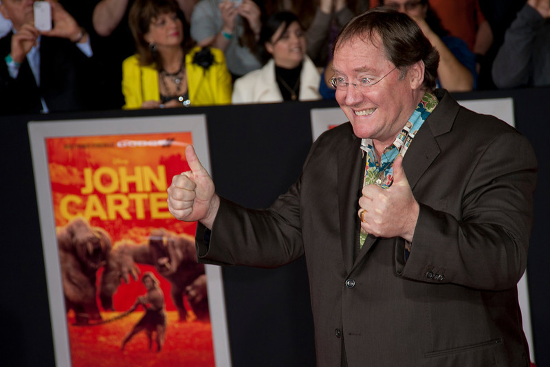 LOS ANGELES, CA - FEBRUARY 22: Director John Lasseter arrives at the world premiere of Disney?s ?John Carter? on Wednesday. February 22, 2012 at Regal Cinemas in downtown Los Angeles. Photo taken by Tom Sorensen/Moovieboy Pictures.
