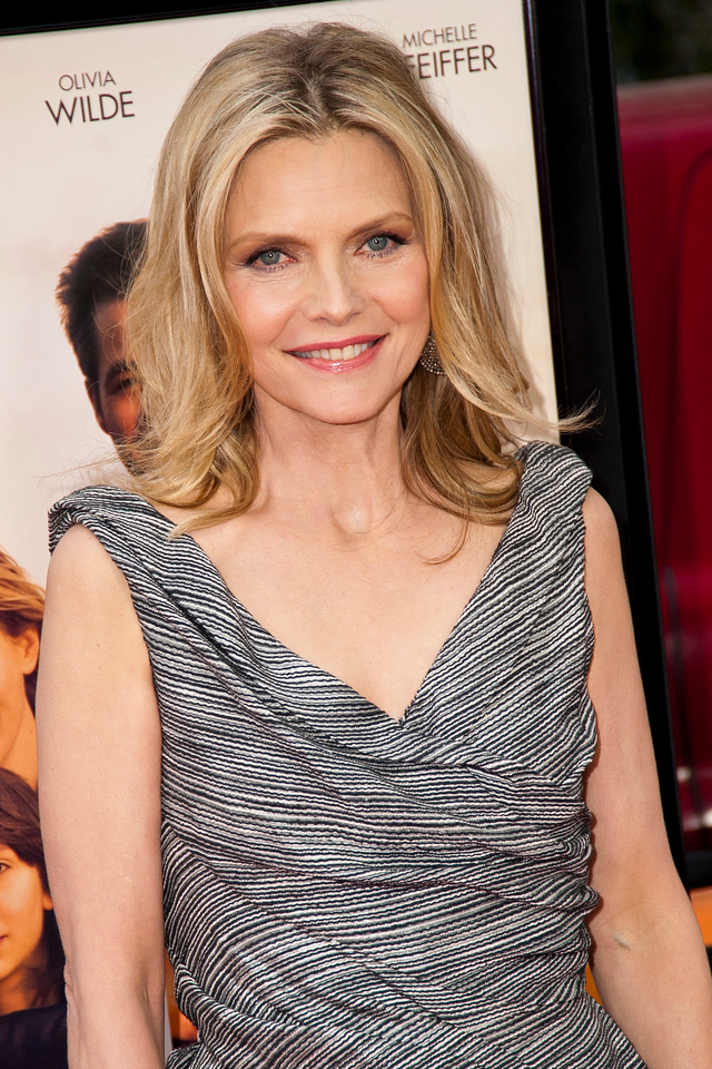 LOS ANGELES, CA: Actress Michelle Pfeiffer arrives at the 2012 Los Angeles Film Festival premiere of 'People Like Us' at Regal Cinemas L.A. LIVE Stadium 14 on June 15, 2012 in Los Angeles, California. (Photo by Tom Sorensen/Moovieboy Pictures)