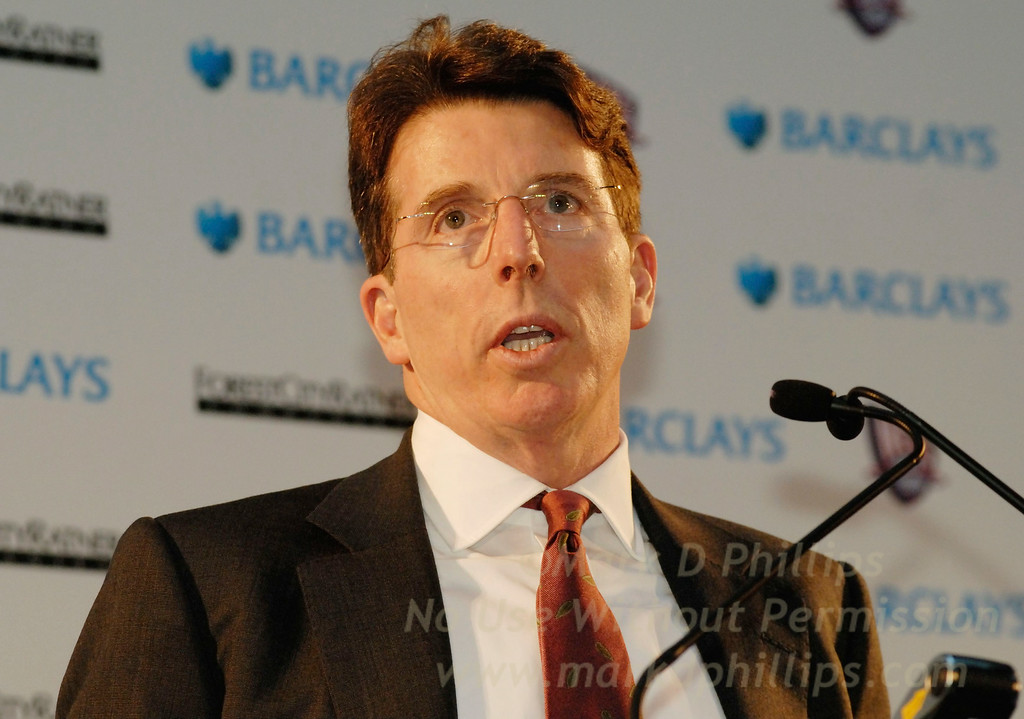 Robert E. Diamond, Jr., President of Barclays PLC, at the Brooklyn Museum on January 18, 2007, during the press conference announcing Barclays purchase of the name rights to Barclays Center at Atlantic Yards.
