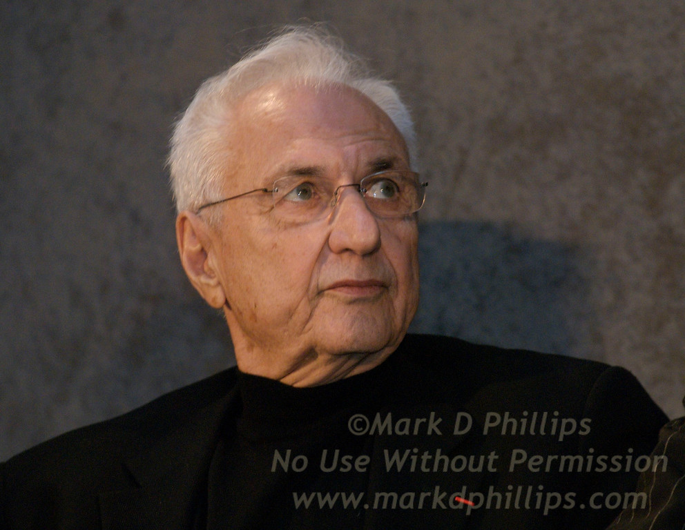 Architect Frank Gehry at the unveiling of Barclays Center in Brooklyn at the Brooklyn Museum.