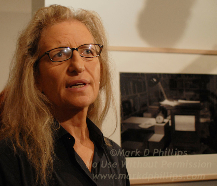 Annie Liebovitz at the Brooklyn Museum in Brooklyn, NY