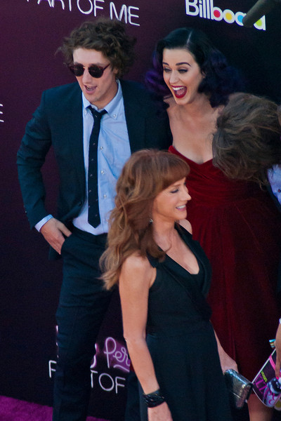 HOLLYWOOD, CA - JUNE 26: Kathy Griffin interrupts Singer Katy Perry arrival at the premiere of Paramount Insurge's 'Katy Perry: Part Of Me' held at Grauman's Chinese Theatre on June 26, 2012 in Hollywood, California. (Photo by Tom Sorensen/Moovieboy Pictures)
