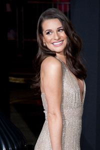 HOLLYWOOD, CA: Actress Lea Michele arrives at the Premiere of Warner Bros. Pictures' 'New Year's Eve' at Grauman's Chinese Theatre. Photo taken on Monday, December 5, 2011 by Tom Sorensen/Moovieboy Pictures.