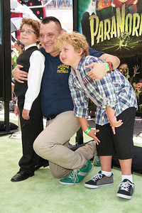 UNIVERSAL CITY, CA - AUGUST 05: Jayden Sizemore, actor Tom Sizemore and Jagger Sizemore arrive to the premiere of Focus Features' 'ParaNorman' at Universal CityWalk on Sunday, August 5, 2012 in Universal City, California. (Photo by Tom Sorensen/Moovieboy Pictures)