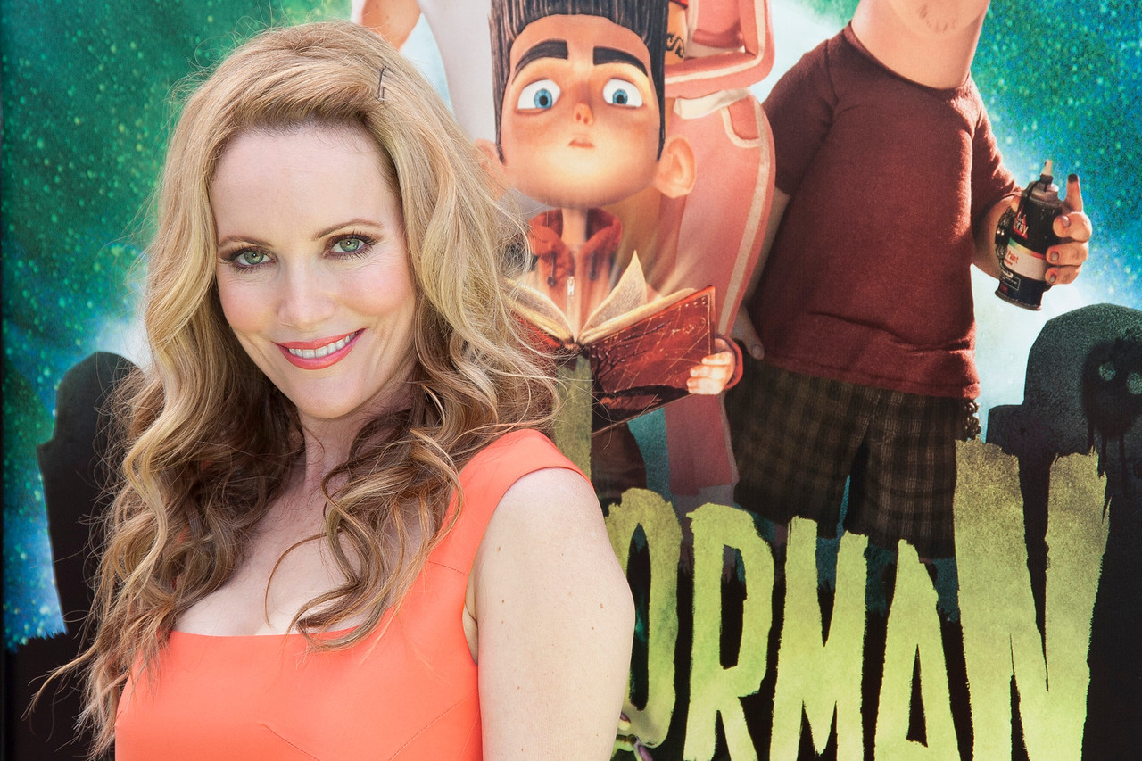 UNIVERSAL CITY, CA - AUGUST 05: Actress Leslie Mann arrives to the premiere of Focus Features' 'ParaNorman' at Universal CityWalk on Sunday, August 5, 2012 in Universal City, California. (Photo by Tom Sorensen/Moovieboy Pictures)