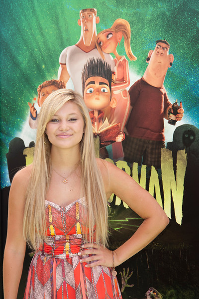 UNIVERSAL CITY, CA - AUGUST 05: Actress Olivia Holt arrives to the premiere of Focus Features' 'ParaNorman' at Universal CityWalk on Sunday, August 5, 2012 in Universal City, California. (Photo by Tom Sorensen/Moovieboy Pictures)