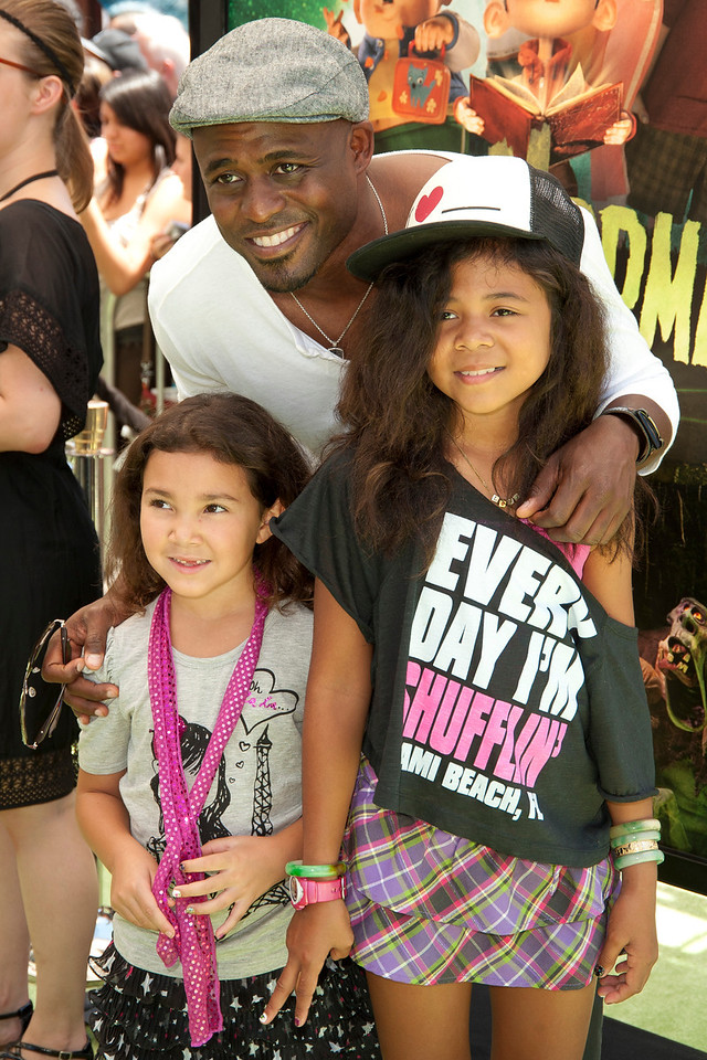 UNIVERSAL CITY, CA - AUGUST 05: TV personality Wayne Brady and daughters arrive at the premiere of Focus Features' 'ParaNorman' at Universal CityWalk on Sunday, August 5, 2012 in Universal City, California. (Photo by Tom Sorensen/Moovieboy Pictures)