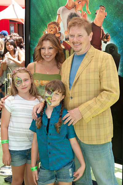 UNIVERSAL CITY, CA - AUGUST 05: Actor Dave Foley (UR) and family arrive to the premiere of Focus Features' 'ParaNorman' at Universal CityWalk on Sunday, August 5, 2012 in Universal City, California. (Photo by Tom Sorensen/Moovieboy Pictures)