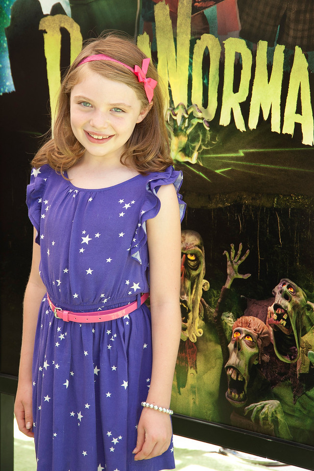 UNIVERSAL CITY, CA - AUGUST 05: Actress Madison Moellers arrives to the premiere of Focus Features' 'ParaNorman' at Universal CityWalk on Sunday, August 5, 2012 in Universal City, California. (Photo by Tom Sorensen/Moovieboy Pictures)